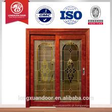 Porta de vidro de madeira porta de vidro interior portas de correr de vidro de madeira portas francesas interiores deslizando