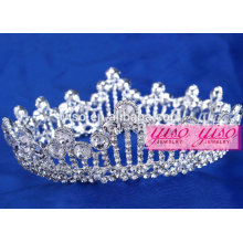 hot sale wholesale costume rhinestone alloy pageant birthday party tiara
