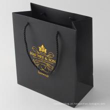 Saco de empacotamento de papel de compra com logotipo