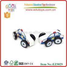 Pequeños juguetes de madera coche de policía Yiwu fábrica de juguetes