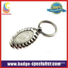 Promotion Metal Keychain with Laser Engraved Logo (HS-KC001)