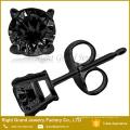 Zirkonia Ohrringe Einstellung 316L Edelstahl Ohr Piercing Studs