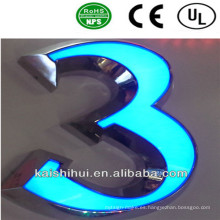 Frente iluminado LED Sing Channel Letter para exteriores