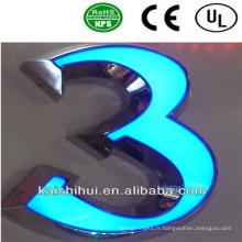 La lettre LED de canal avant éclairée par l'avant pour extérieur