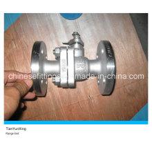 2PC Manual ANSI Flanged la válvula de bola flotante del acero inoxidable de CF8m