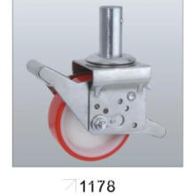 Adjustable Scaffolding Caster with PU Wheel, Plain Bearing