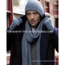 Sombrero y guantes de cachemira para hombres