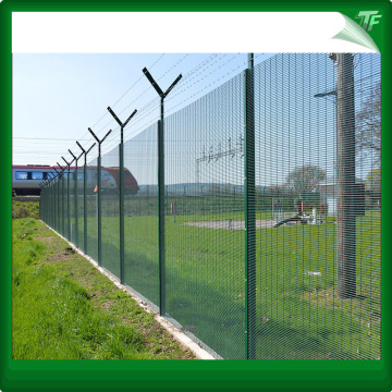 PVC-iron security fence panel