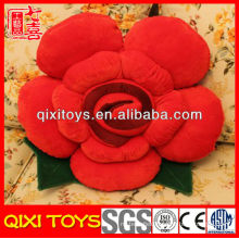 Latest desigh high quality plush rose shaped pillow