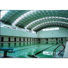 Techo de cubierta de marco de acero galvanizado de largo alcance para piscina de gran extensión