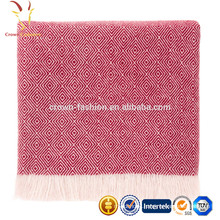 Hot Sale Wool Cashmere Blended Woven Travel Throws Blankets