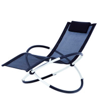 factory low price Used for Garden Sun Loungers foldable alu. rocking chair export to Costa Rica Wholesale