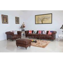 Hotel Lobby Leather Restaurant Furniture for Living Room (SP-KS377)