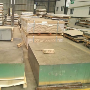 Placa de liga de alumínio de parede grossa 6061-T6