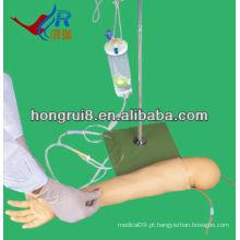 Modelo avançado de punção da veia do braço da criança, braços de treinamento IV