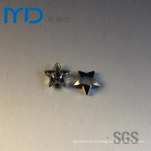 Remaches redondos de la forma de la estrella del metal al por mayor de la manera para los bolsos, los suéteres y los zapatos