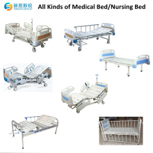 Costo de acero inoxidable de una función manual Venta al por mayor de accesorios de cama de hospital