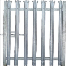 2.4m high galvanized single leaf palisade pedestrian gate