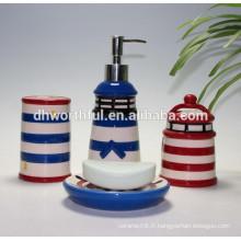 Ensemble de salle de bains en céramique en forme de tour à la mode et bon marché