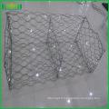 Maille galvanisée hexagonale comme Gabion Box Galvanisé gabion panier hexagonal maille de poulet pour l'Inde