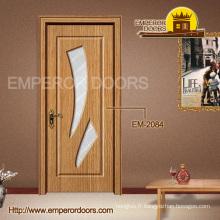Porte en bois intérieure de PVC d'em