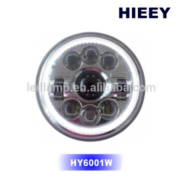 """Approbation DOT 7 """"LED ronde feux de croisement feux de croisement éclairage hors route conduit phare"""