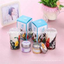 Романтические ароматические соевые свечи подарочные в стекле для отдыха
