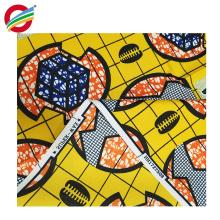 Tela africana de la impresión de la cera del bajo costo resistente a los rasgaduras utilizada para la venta