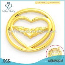 Мода 22мм сплава 24k золото ювелирные магнитные плавающие прелести медальон сердце окна пластин опт