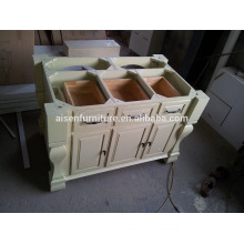 America style solid wood island for kitchen cabinet