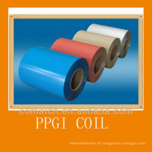 Bobinas de aço galvanizado pré-pintadas, várias cores