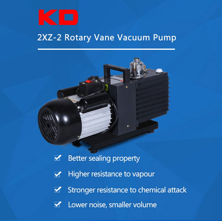 Laboratory electric rotary vane vacuum pump.