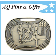 3D Cup Medal in Antique Bronze Plating