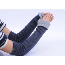 Wholesale winter double layers rib knitting cashmere glove
