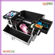 Четыре лотка жесткой оболочки алюминиевого корпуса красоты для PRO визажист (SACMC132)