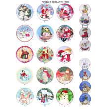 Plaque décorative en porcelaine 4PC (TS019-008)