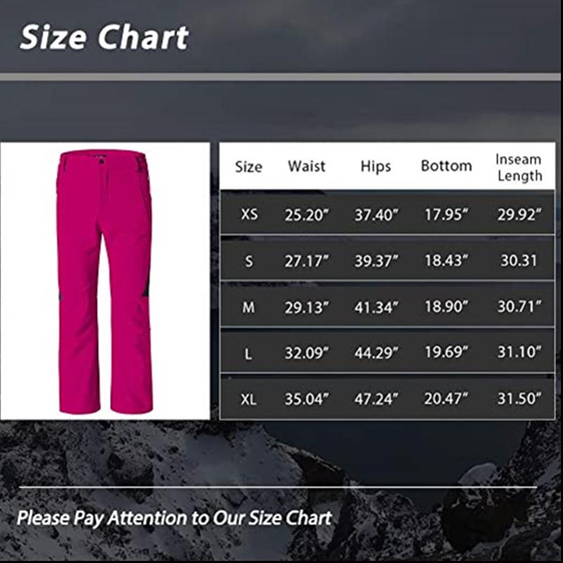 Women S Insulated Ski Pants Softshell Fleece Lined Windproof Overalls5
