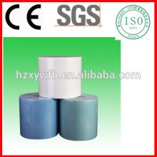 Toalhetes de papel industriais de papel livres de fiapos de Spunlace