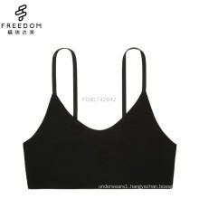 China small MOQ cotton fabric bandeau U neck wireless bralette bra