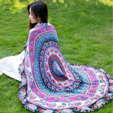 wholesale luxury round beach towels 100% cotton