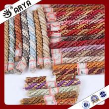 Decoración de muchos colores Cuerda decorativa para decoración de sofá o accesorios de decoración para el hogar, cuerda decorativa, 6mm