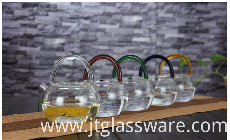 colorful glass water teapot