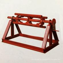 Bobina de acero hidráulica automática de la cabeza doble pesada de encargo 5 toneladas desenrollador / decoiler con el brazo de la prensa