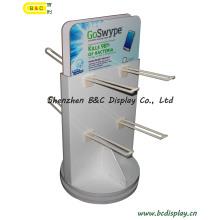Suporte de exposição plástico do cartão dos Pegs, exposição dos ganchos, suporte de exposição dos ganchos de papel (B & C-B005)