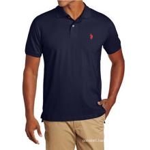 Men′s Solid Polo Shirt with Small Logo
