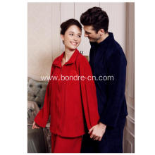 Unisex Coral Fleece Classic Pajamas Suit