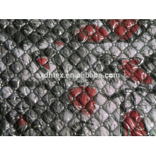 algodão de inverno acolchoado bordado laço estofando jaqueta/vestuário/vestuário tecido