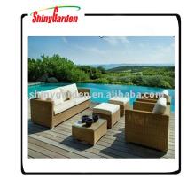 Rattan-Luxussofa-Gartenmöbel, benutztes Rattansofa für Verkauf, synthetisches Rattansofa