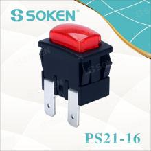 Soken Garment Steamer Push Button Switch 250VAC 16A 1 Pole