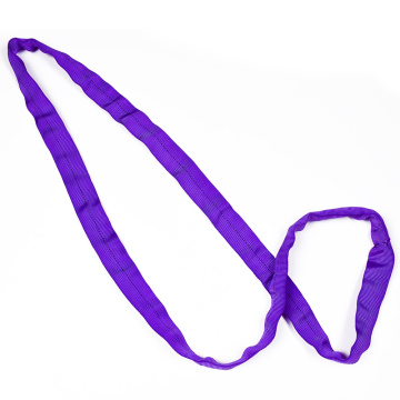 1 Ton 1M To 10M Length Cheap Price Polyester 1T Round Lifting Sling Belt Purple Color Safety Factor 8:1 7:1